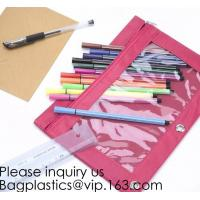 Stationery products Pencil Pouch Pvc Portable Pencil Case For Students,3 Ring Binder Zippered Pencil Pouches with Clear Manufactures