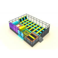 Primary School Kids Trampoline Park Galvanized Steel Pipe And Nylon Mesh Material Manufactures