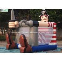 Fire Retardant Toddler Inflatable Bouncing Castle Of Pirate Jack Theme Manufactures