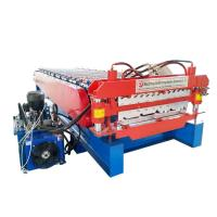 fully automatic double trapezoidal tile wall corrugated sheets roll forming machine Manufactures