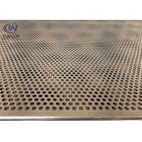 Mild Steel 5mm Hole 2mm Pitch Perforated Metal Cladding Panels With Galvanized Coated Manufactures
