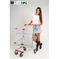 Two Layer baskets Grocery Shopping Trolley For Ladies With PVC , PU , TPR Wheel CE GS ROSH