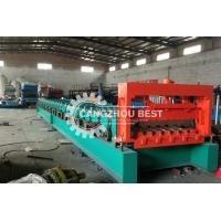 China H75 Russian Standard Floor Deck Roll Forming Machine / Metal Profile Forming Line on sale