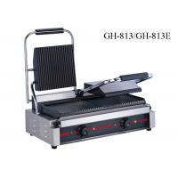 Stainless Steel Contact Griller Single / Double Heads Sandwich Grill Machine Manufactures