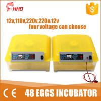 1 Year warranty CE passes Automatic egg turning  48 chicken egg 24 turkey mini egg incubator   for sale YZ8-48 Manufactures