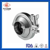 Weld End Sanitary Stainless Steel Valves Bright Gloss  Sanitary Check Valve Manufactures