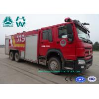 Howo 266 Hp Emergency Rescue Fire Fighting Truck  6 X 4 With High Pressure Pump for sale