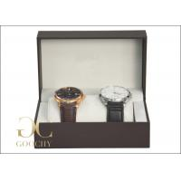 2 Piece Plastic Watch Presentation Box / Cardboard Gift Boxes And Packaging For Women Manufactures
