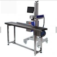 High speed and prescion auto focus galvo scanner flying CO2 laser marking/cutting machine with conveyor Manufactures