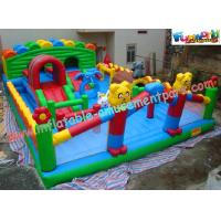 Durable Inflatable Amusement Park With Waterproof 0.55mm PVC Tarpaulin For Home Manufactures