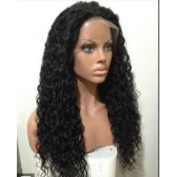 Mixed Color 100% Peruvian glueless human hair full lace wigs With Combs / Straps for sale