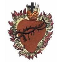 Embroidery digitizing service for custom patch cross and heart S1080507102 Manufactures