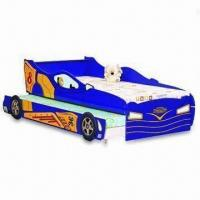 Double-layer Children's Bunk Bed in Sports Car Design, Measures 90 x 190cm Manufactures