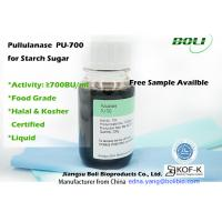 Food Grade Pullulanase , 700 BU / ml Enzymes In Food Industry For Production Of High Glucose Syrup Manufactures