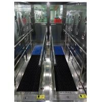 Environmentally Friendly Sole Cleaning Machine In Air Shower Room Manufactures