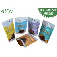60g Notch Snack Plastic Packaging Bags , Food Flexible Packaging Pouches With Resealable Zipper Manufactures