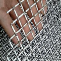 Hot Dipped Galvanized Iron / Stainless Steel Square Crimped Wire Mesh With Solid