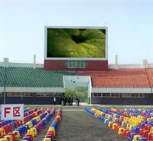 Pixel pitch 25mm 200*200mm Module Outdoor waterproof perimeter electronic  LED billboard