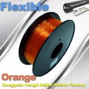 Orange 3.0mm / 1.75mm Rubber  Flexible 1.0KG / Rolls 3D Printer Filament Manufactures