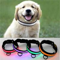 Super Cool Double Row Flashing LED Dog Collars Manufactures