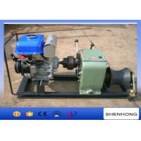 China Axle Bar Driven Gas Powered Capstan Winch , 3 Ton Electric Cable Hoist Winch on sale