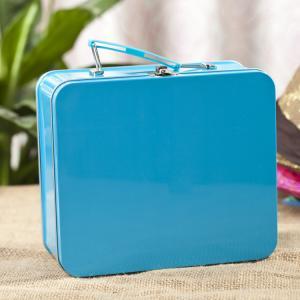 Rectangular Lunch Box Tinplate Metal Storage Packaging PMS offset printing Manufactures