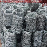 Barbed Wire Factory / Razor Barbed Wire/galvanized sheffield barbed wire with low prices/200m Roll  Barbed Wire Manufactures