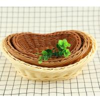 PP Weaving Rattan custom size round storage wicker fruit basket tray Manufactures