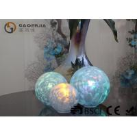 Set Of 3 Glass Ball Lights Surface With Ice Like Finish OEM / ODM Available for sale