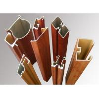 China Wood Grain Aluminum Window Frame Extrusions Antirust Abrasion Resistant on sale