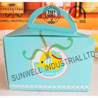 Cardboard Paper Lunch / Cake Food Packing Boxes With Handles Triangle Shape Manufactures