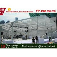 China New Design 30m Width Clear Span aluminum Buildings With Glass Wall 800 Sqm Area on sale