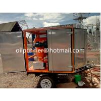 Buy cheap Mobile Trailer Transformer Oil Filtration Equipment,Online Transformer oil dehydration purification plant with Trailer from wholesalers