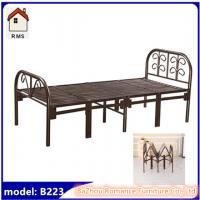 china manufacturer metal folding single bed folding cot bed B223 Manufactures