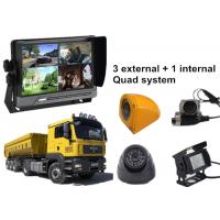 Lorry 4 Security Camera Car DVR AHD 3G GPS WIFI Quad Monitor System Manufactures