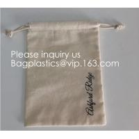 Reinforced Stitching & Easy Closure Cotton Drawstring Pouches | Perfect for