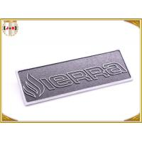 OEM Service Decorative Shiny Chrome Metal Logo Tags , Zinc Alloy Custom Logo Clothing Labels  Manufactures
