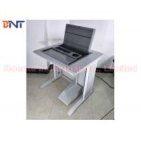 University Laboratory Tabletop Hidden Computer LCD Monitor Screen Manual Flip Up Lifting Case Manufactures