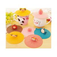 China Food Safety , Cartoon Image , Cute Design , Silicone Cup Cover on sale