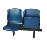 China Foldable Tip Up Plastic Fixed Stadium Seating With Armrests on sale