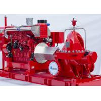 Single Stage End Suction Fire Pump 250GPM@125PSI With Diesel Engine Drive Manufactures