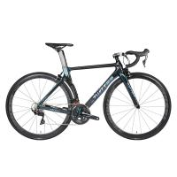 China 700C Carbon Fiber Road Bike , Black Full Suspension Mountain Bike High Strength on sale