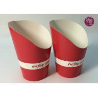 9oz Height 120mm French Fries Cup , Double PE Coated Hot Chip Cup Manufactures
