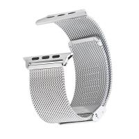 Stainless Steel 0.6mm Mesh Watch Strap Wrist with Adapter Silver Manufactures