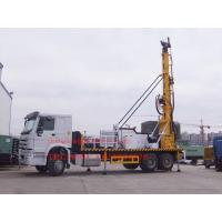 China Sinotruk Truck Mounted Water Well Drilling Rig , Cummins Engine Hydraulic Water Drilling Equipment on sale