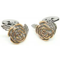 Gold Flower Style Stainless Steel Cufflinks Men's Gifts Manufactures