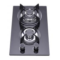 Household LPG 2 Burner Gas Stove Top , Glass Top Two Ring Gas Hob Manufactures