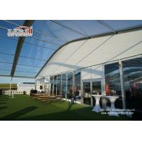 Sandwich Wall Clear Span Tents Transparent PVC Roof Cover Outside Manufactures