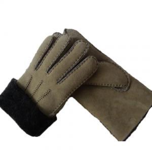 Spanish Merino Sheepskin Double Face Leather Winter Gloves Hand Sewn Men Gloves Manufactures