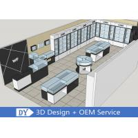 Simple Jewellery Showroom Furniture With Led Lights For Decorated Manufactures